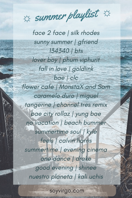 summer time playlist by soyvirgo.com 2018 cute kpop bts playlist graphic ideas pinterest