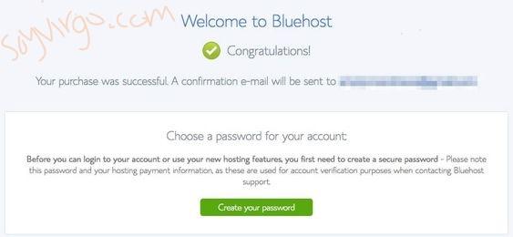 bluehost setup blog soyvirgo.com