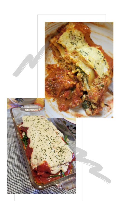 soyvirgo.com vegan lasagna recipe with spinach and chorizo