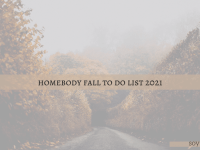 soyvirgo.com homebody fall to do list 2021