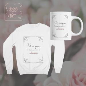 virgo chaos mug and sweatshirt bundle | soyvirgo.com