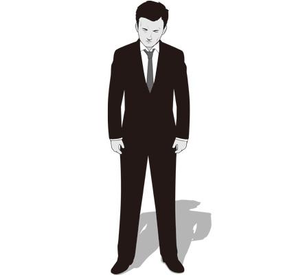 うなだれる男性ビジネスマンのイラスト
