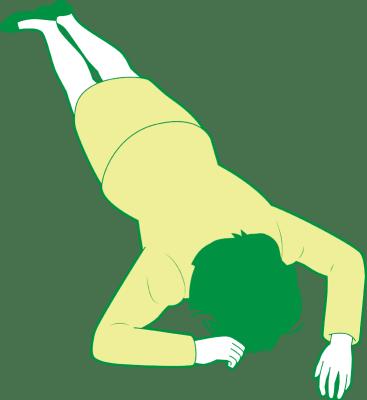 うつ伏せで倒れている女性②のイラスト