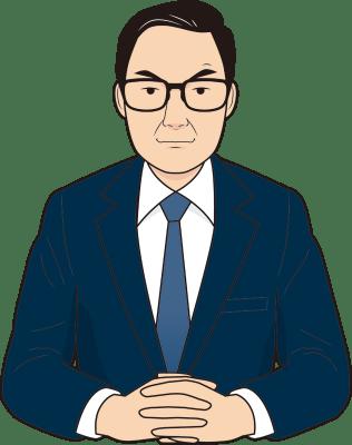 関心のある男性面接官のイラスト
