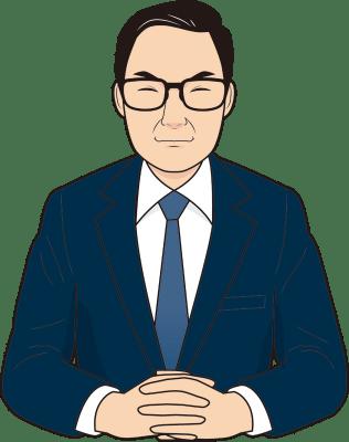 笑顔の男性面接官のイラスト