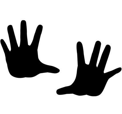 掌のシルエットイラスト