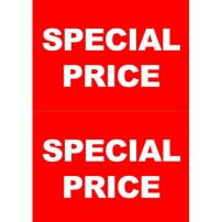 POP SPECIAL PRICE(シンプル・レッド・A4)