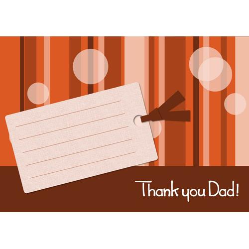 カード 父の日 メッセージ(メッセージタグ・ブラウン・A4)