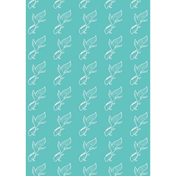 背景画像 グリーンの金魚(カラー)