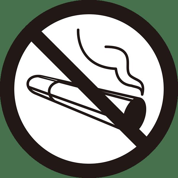 ビジネス 禁煙アイコン(モノクロ)