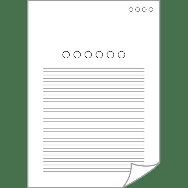 ビジネス 書類・資料アイコン(端折れ)(カラー)