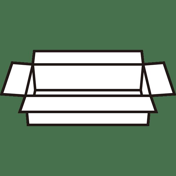 ビジネス 展開された段ボール(モノクロ)