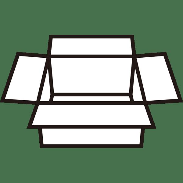 ビジネス 展開された段ボール2(モノクロ)
