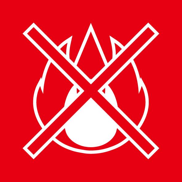 ビジネス 火気厳禁シール(カラー)