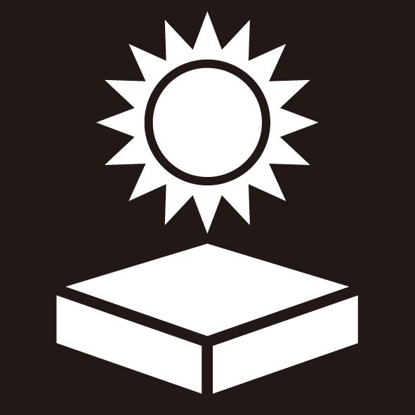ビジネス 日射熱厳禁シール(モノクロ)