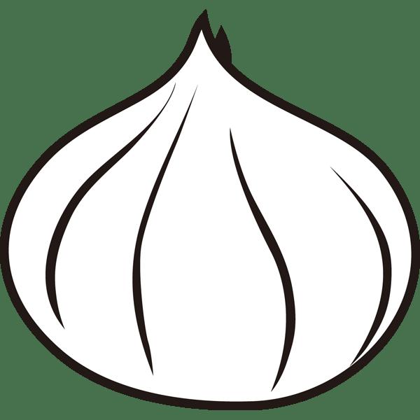 食品 玉ねぎ(モノクロ)