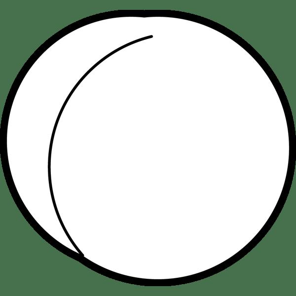 食品 桃(もも)(モノクロ)