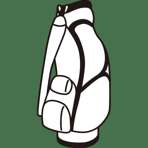 ゴルフ ゴルフバッグ(モノクロ)