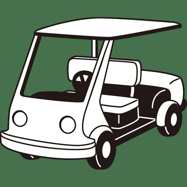 ゴルフ ゴルフカート(モノクロ)