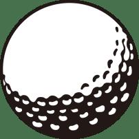 ゴルフ ゴルフボール(モノクロ)