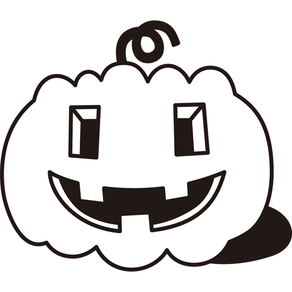 年中行事 かぼちゃ(モノクロ)