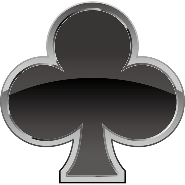 装飾 クローバー(黒いクローバーマーク)(カラー)