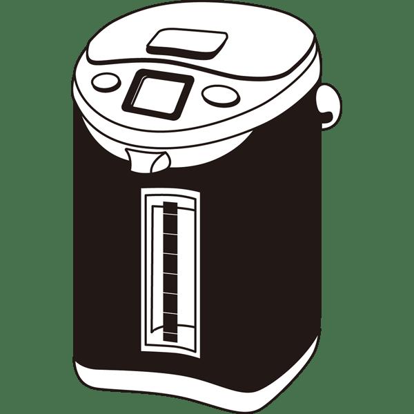 家庭・生活 電気ポット(モノクロ)