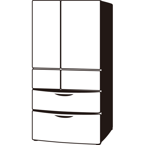 家庭・生活 冷蔵庫(モノクロ)