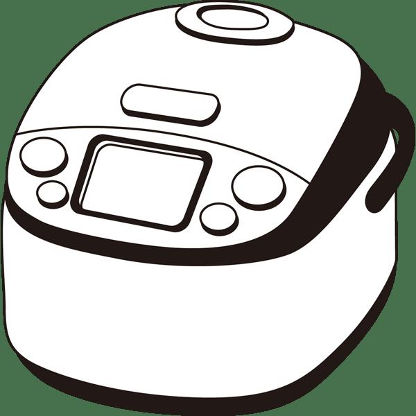 家庭・生活 炊飯器(炊飯ジャー)(モノクロ)