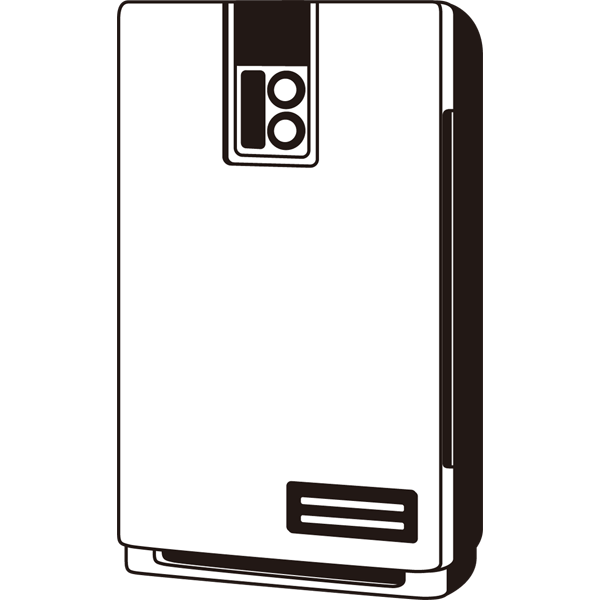 家庭・生活 空気清浄器(モノクロ)