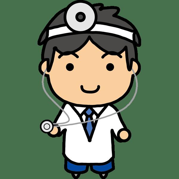 医療 医者(ドクター・キャラクター風)(カラー)