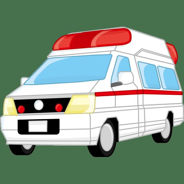 医療 救急車(カラー)