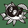 年中行事 鯛(タイ)(モノクロ)