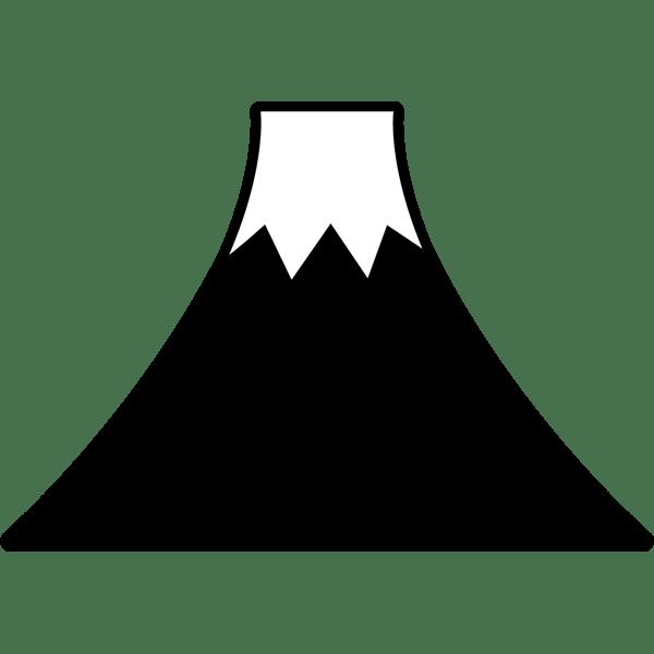 年中行事 富士山モノクロ 無料イラストpowerpointテンプレート