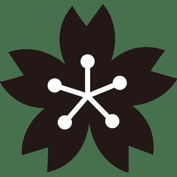 年中行事 桜(桜の花びら)(モノクロ)