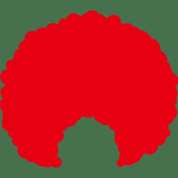 装飾 かつら(アフロヘアー・赤色)(カラー)