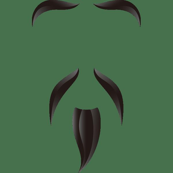 髭長いヒゲカラー 無料イラストpowerpointテンプレート配布
