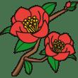 植物 ツバキ(カラー)