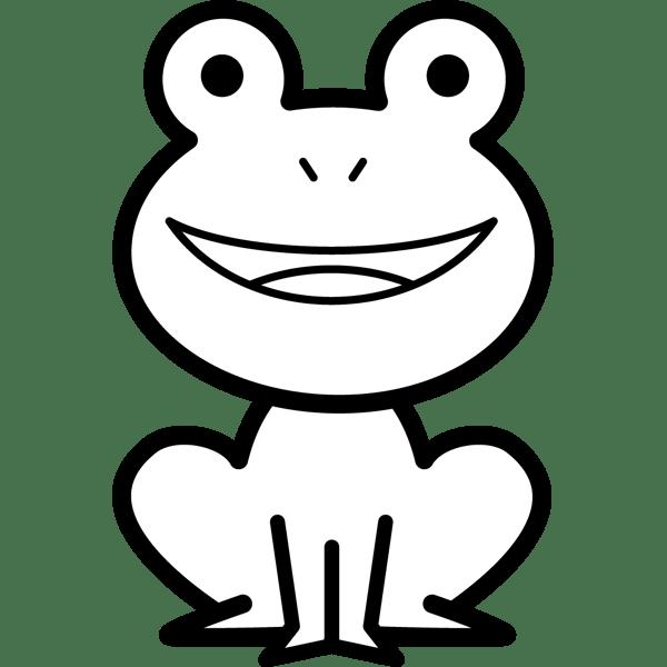年中行事 カエル(モノクロ)