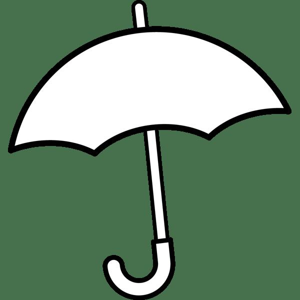 年中行事 傘(モノクロ)