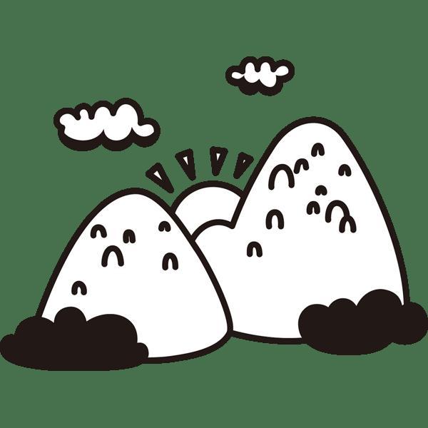 トップコレクション 山 イラスト 白黒 ベスト 壁紙イラスト