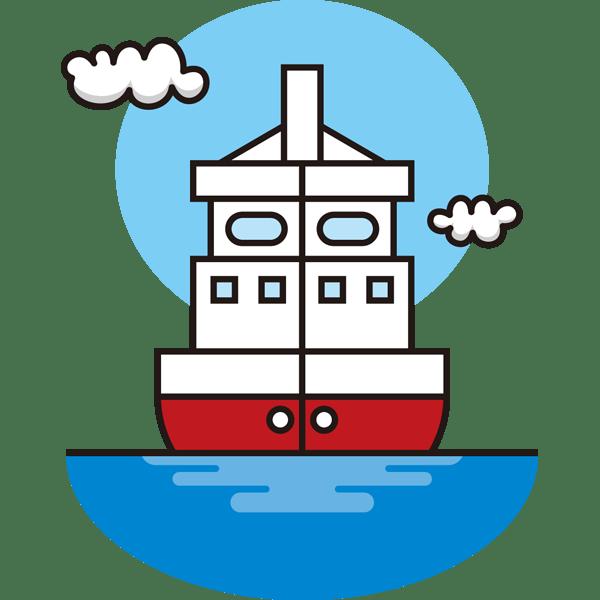 自然 海(船)(カラー)