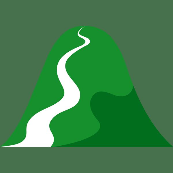 自然 山(シルエットイラスト)(カラー)