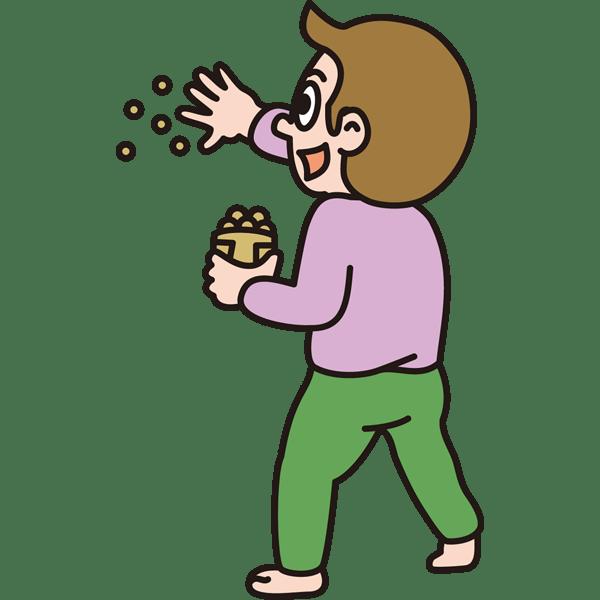 年中行事 豆まき(カラー)
