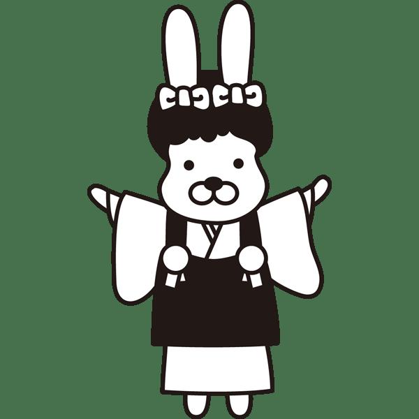 年中行事 七五三(犬の女の子)(モノクロ)