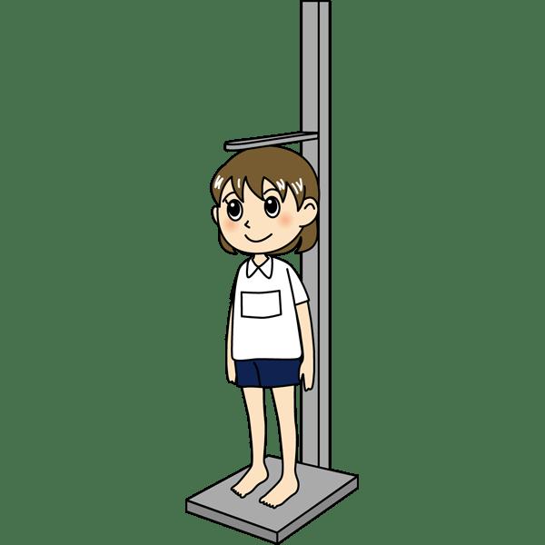 学校 女子生徒(身体測定)(カラー)