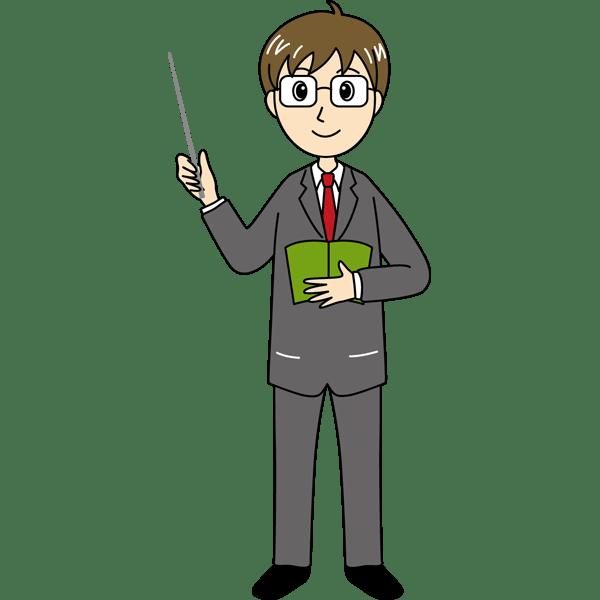 学校 教師(男性の先生)(カラー)