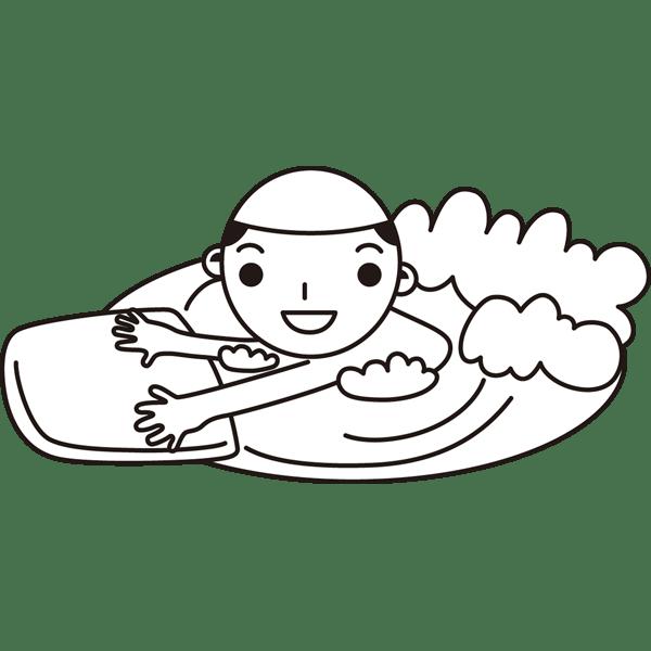年中行事 子供(水泳)(モノクロ)
