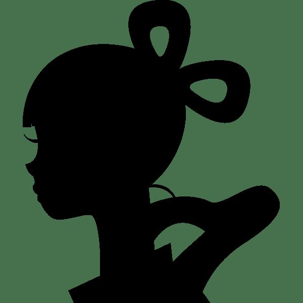年中行事 織り姫(シルエット)(モノクロ)