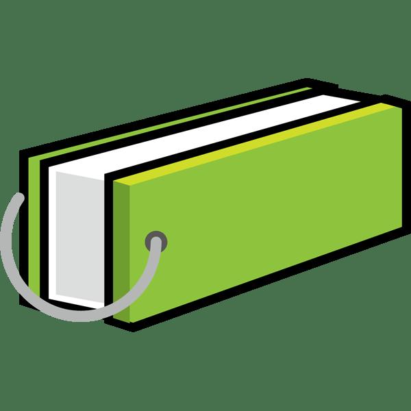 学校 単語帳(緑)(カラー)